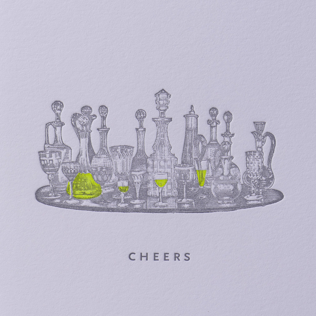 Cheers Drink Tray Card