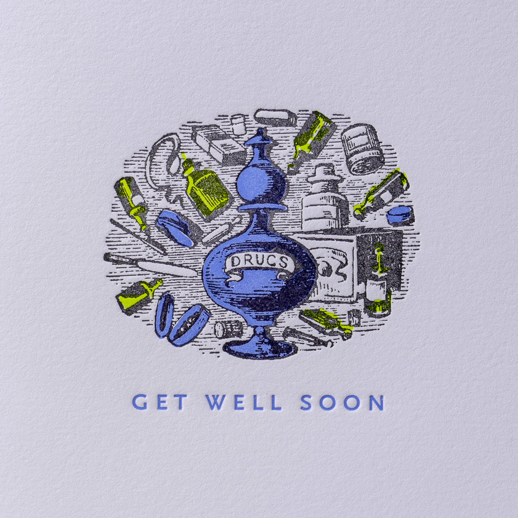 Get Well Soon Medicine Card