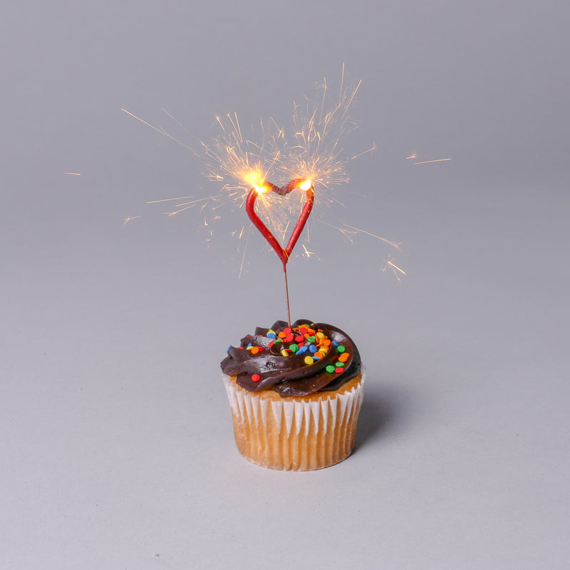 Miniature Red Heart Sparklers