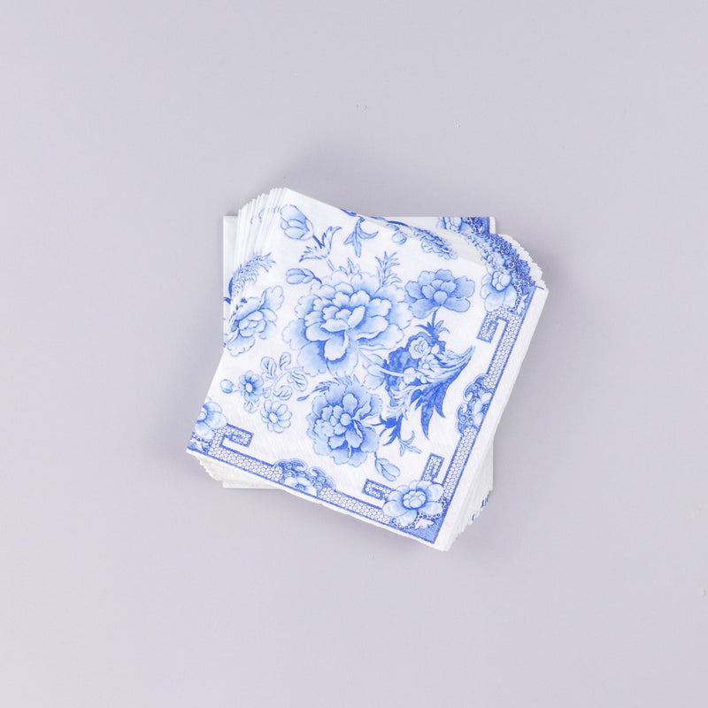 Chinese Silk Ivory Cocktail Napkin
