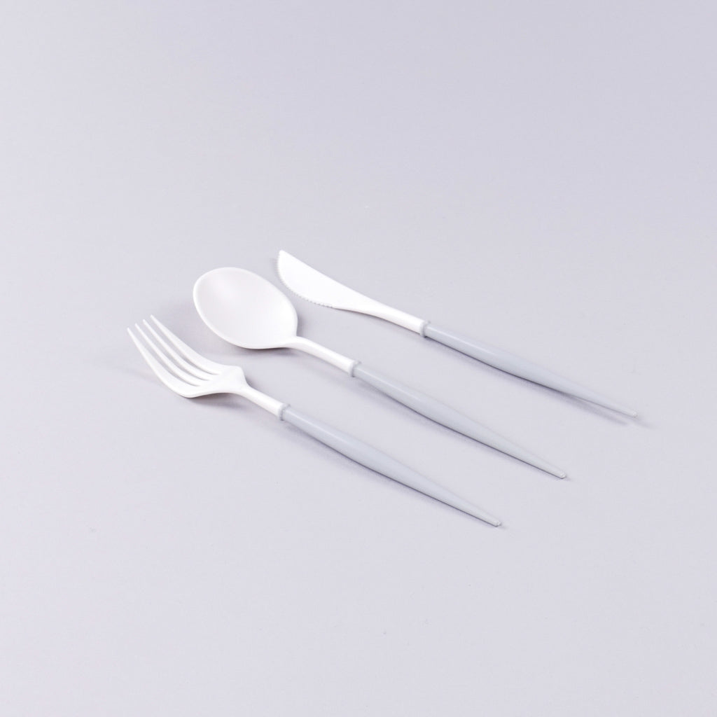 White and Grey Flatware