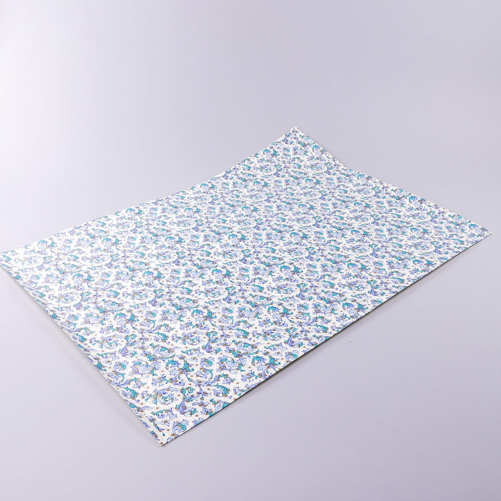 Blue Florentine Wrapping Paper