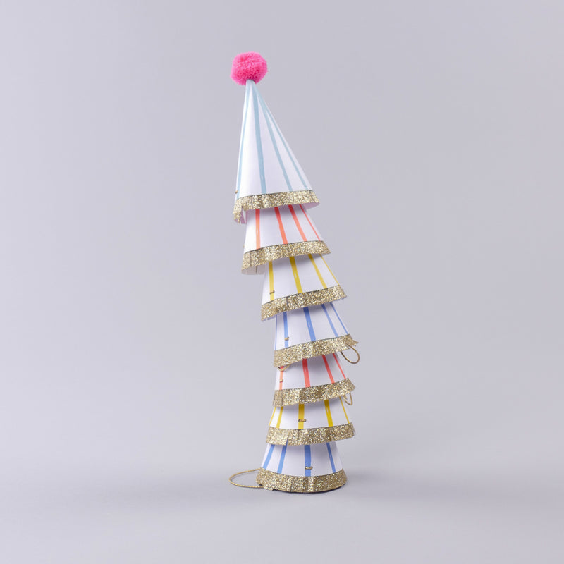 Mini Pom Pom Party Hats