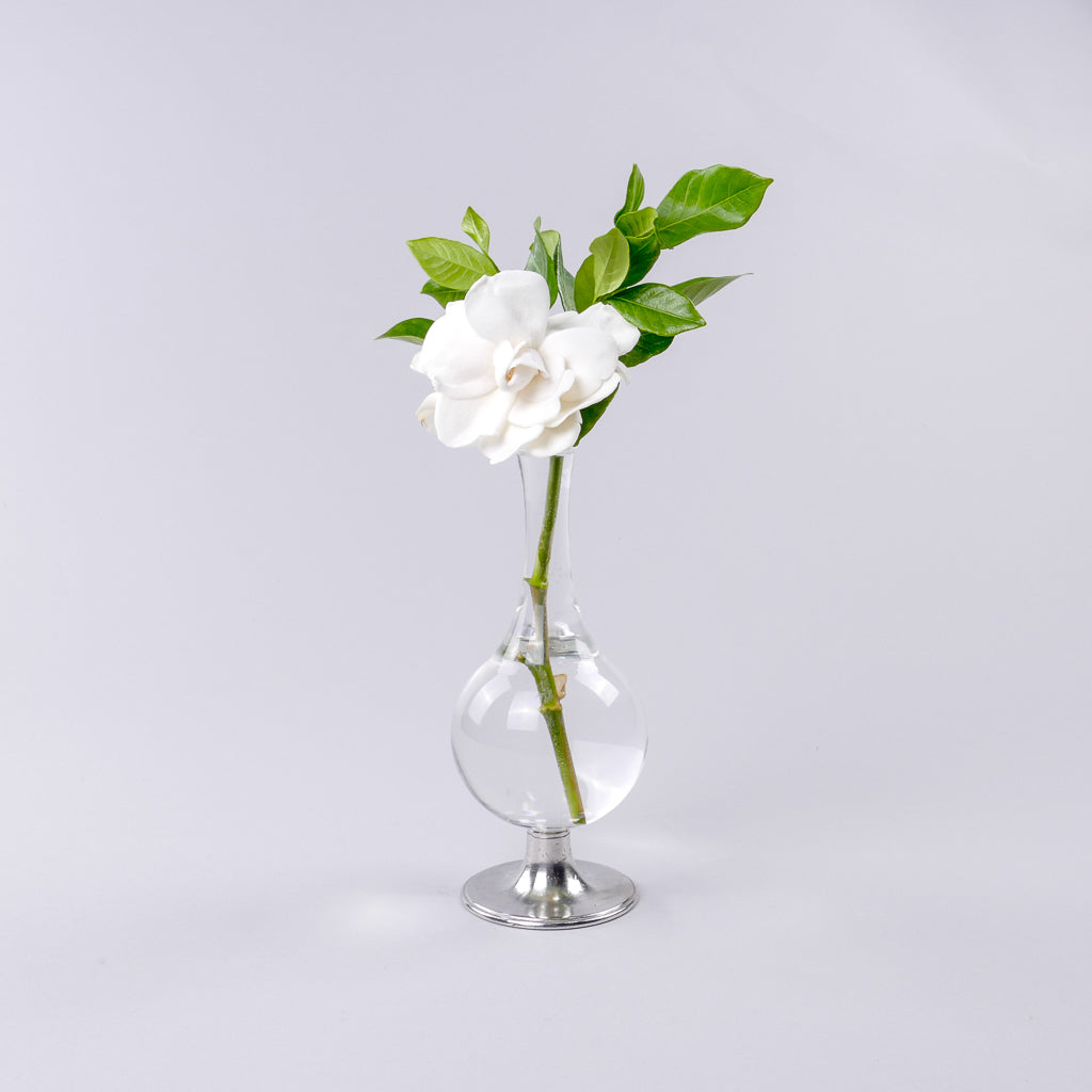 Match Pewter | Pewter Footed Glass Vase