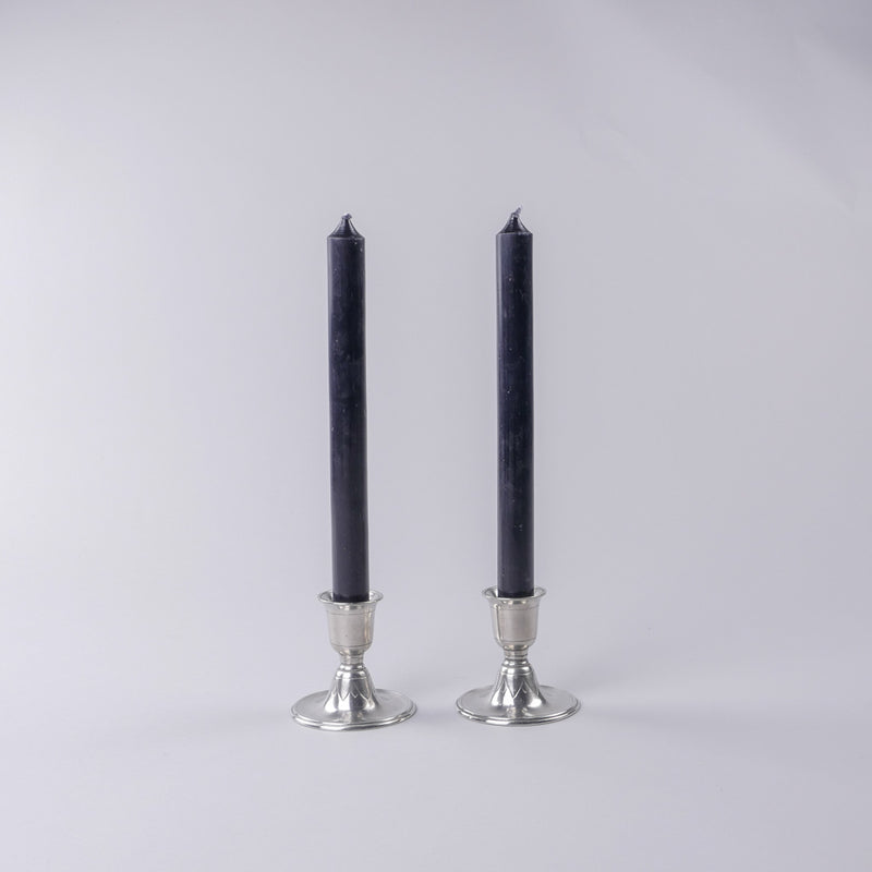 Match Pewter | Short Candlestick Pair