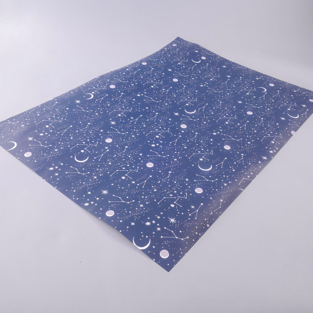 Moon and Stars Wrapping Paper