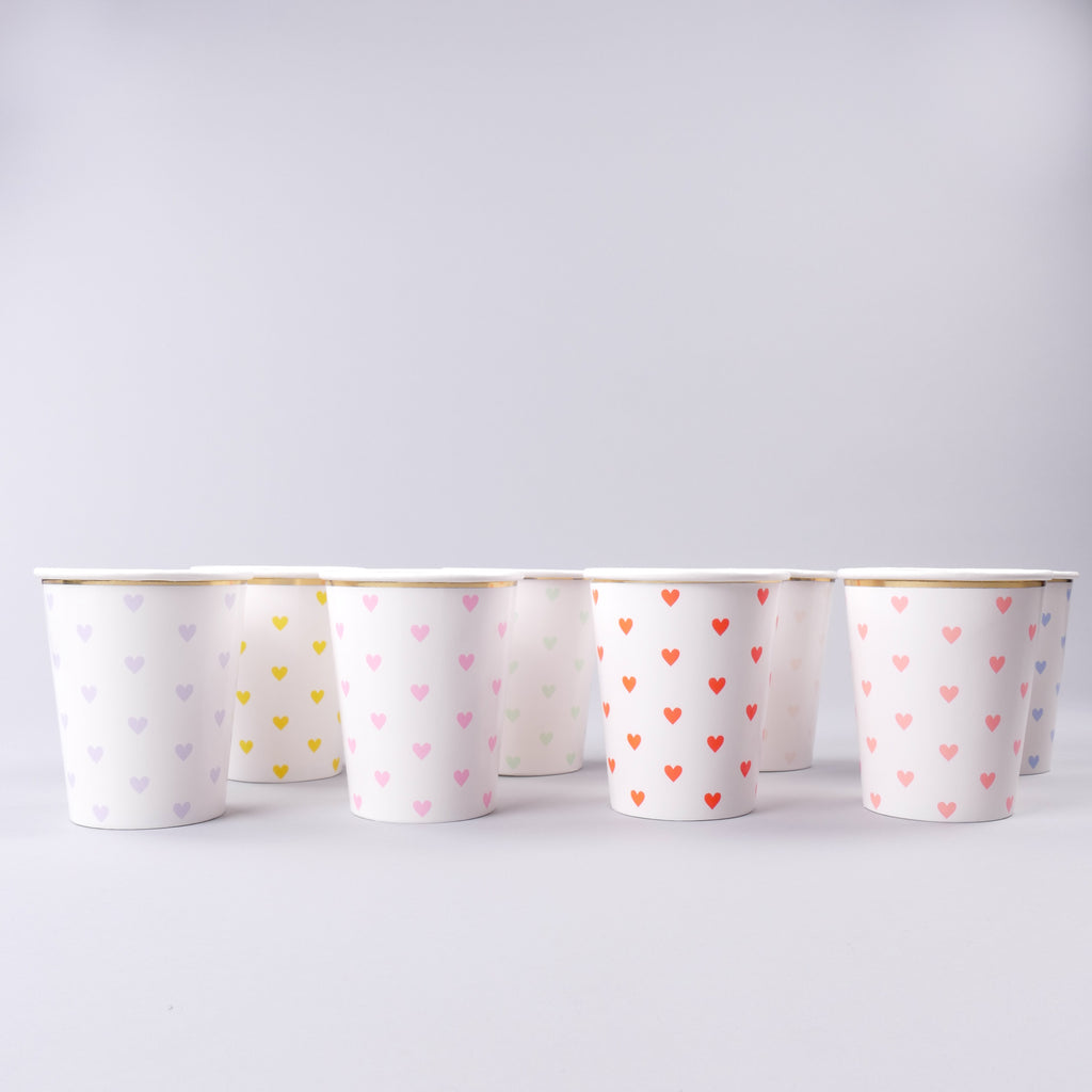 Hearts Paper Cups