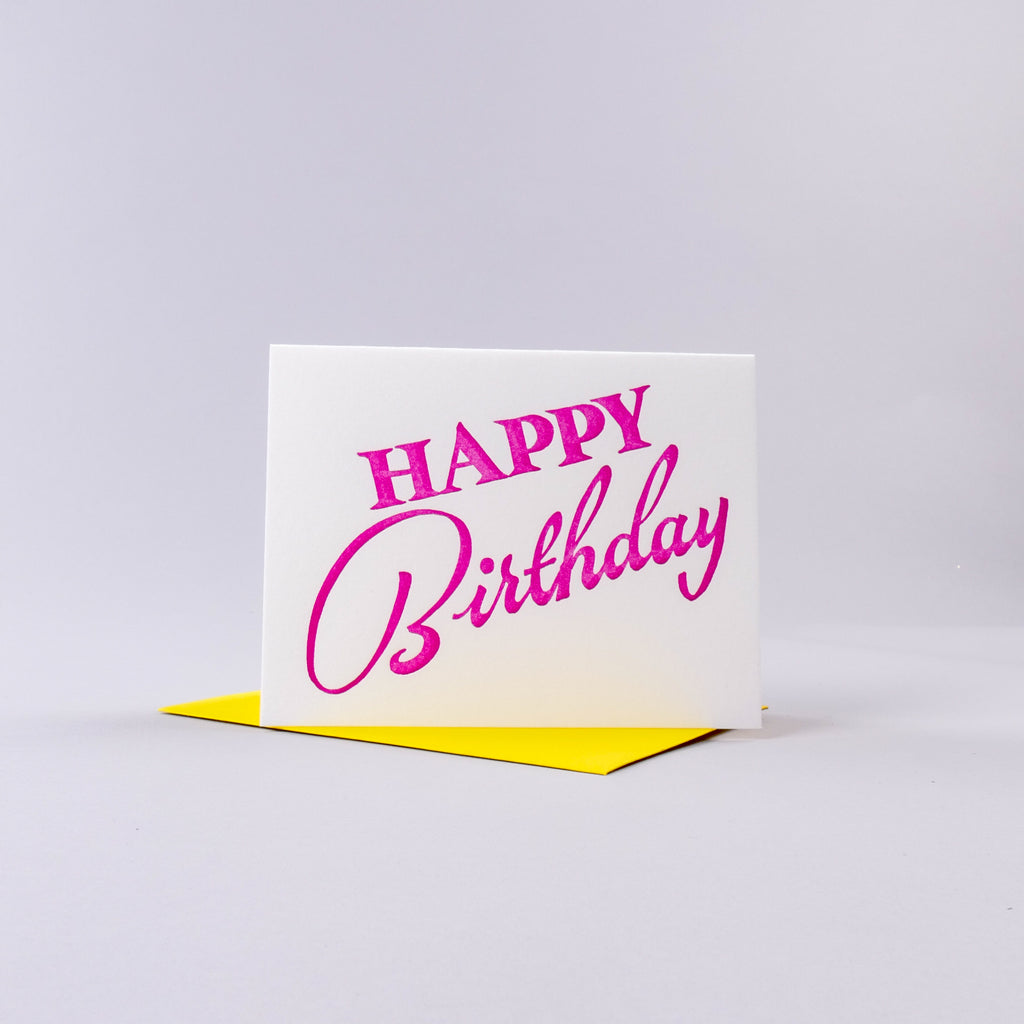 Happy Birthday Card - Pink