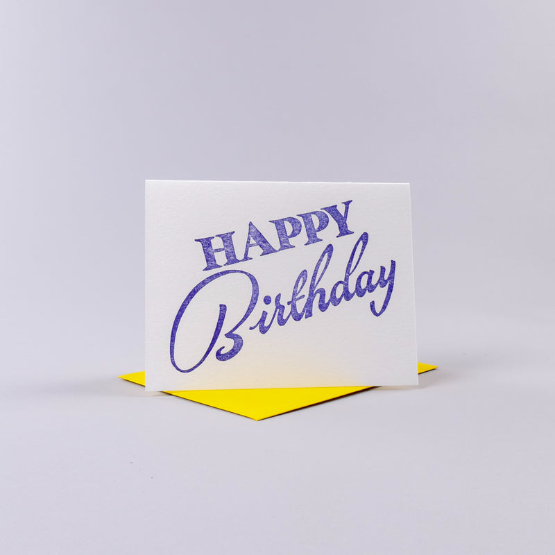 Happy Birthday Card - Blue