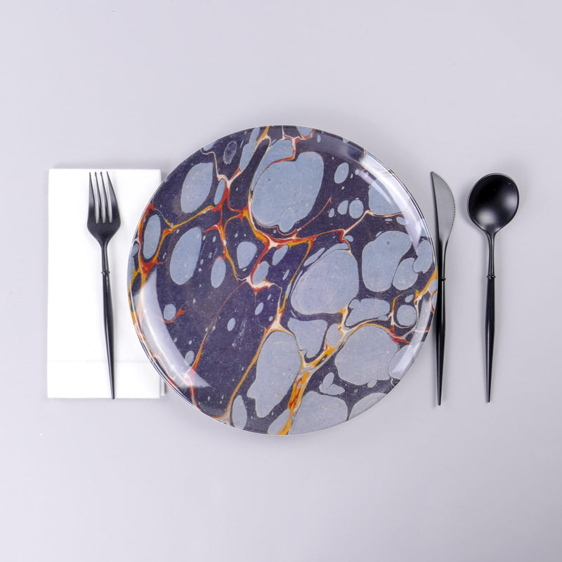 Woolfe Melamine Plates - Set of 4