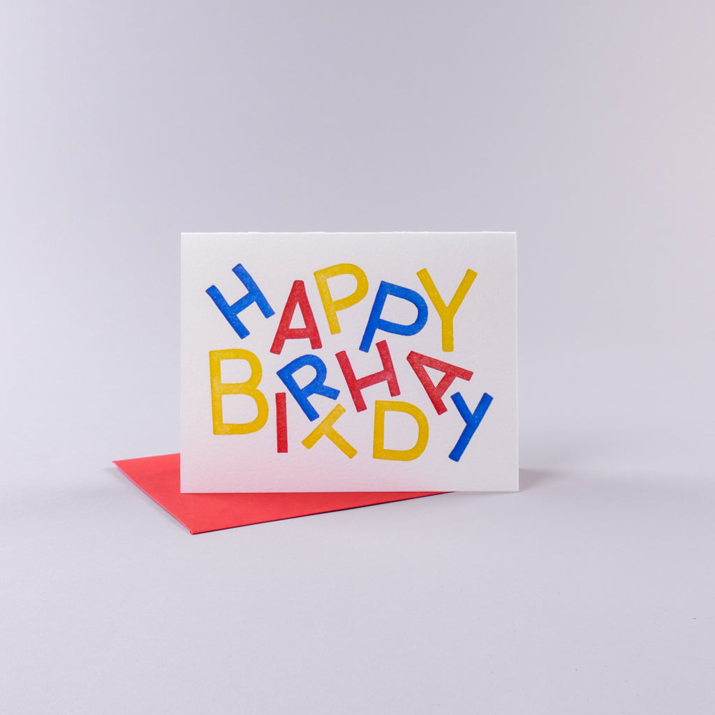 Happy Birthday Card - Primary Colors