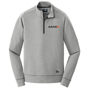 Men's New Era Tri-Blend Fleece 1/4-Zip Pullover