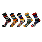 5 Pair Multi Stripe Socks