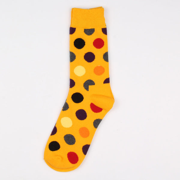 Yellow Red Black Purple Dots Socks