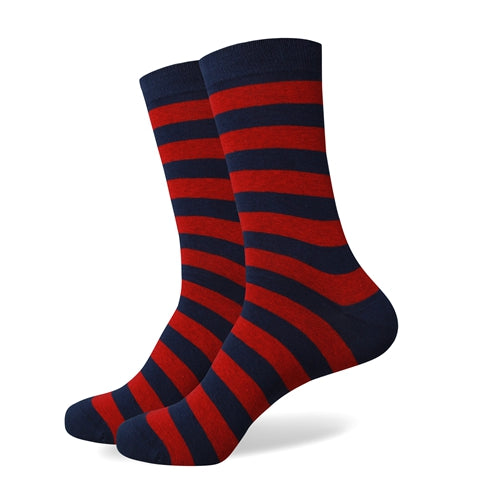 Blue Red Stripes Socks