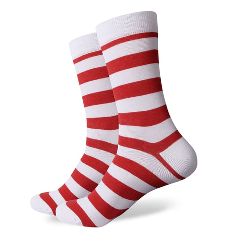 White Red Stripes Socks