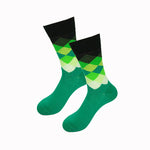 Green White Gradient Socks