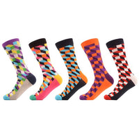 5 Pair Optic Stripe Socks