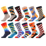 12 Pair Gradient Diamond Dots Stripes Argyle Optic Socks