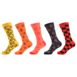 5 Pair Anchor Grid Design Socks