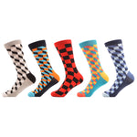 5 Pair Checker Socks