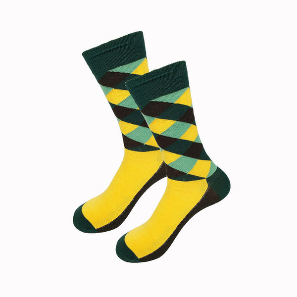 Green Yellow Gradient Socks