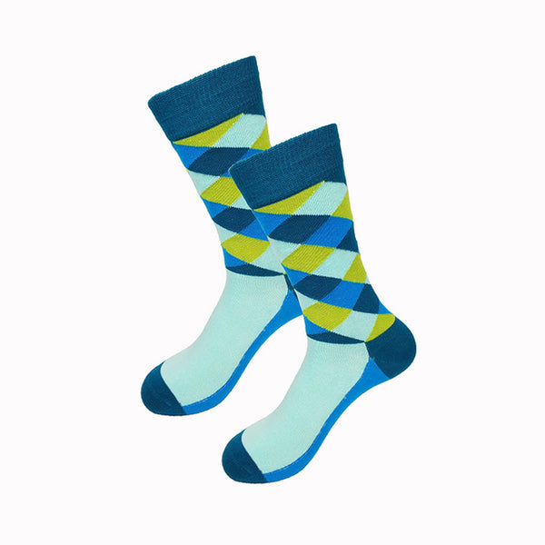 Turquoise Green Blue Gradient Socks
