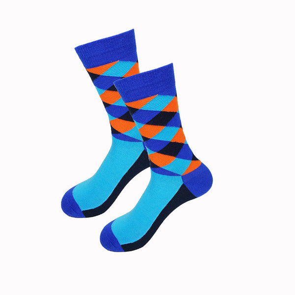 Blue Orange Gradient Socks