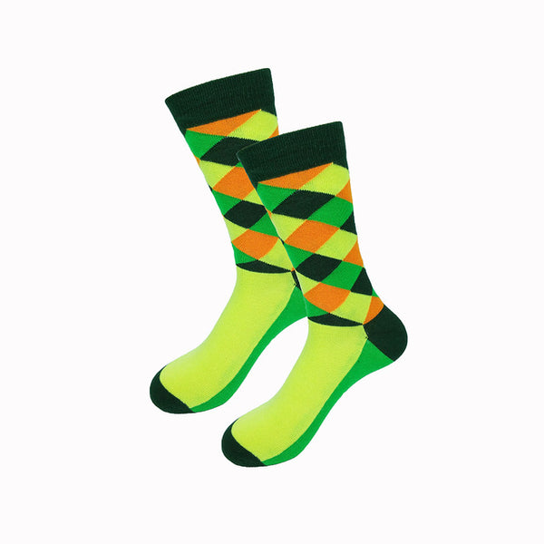 Green Orange Gradient Socks