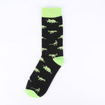 Green Black Dinosaur Socks
