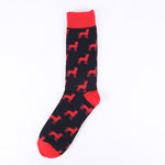 Red Black Dog Socks