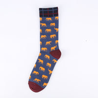 Blue Red Elephant Socks