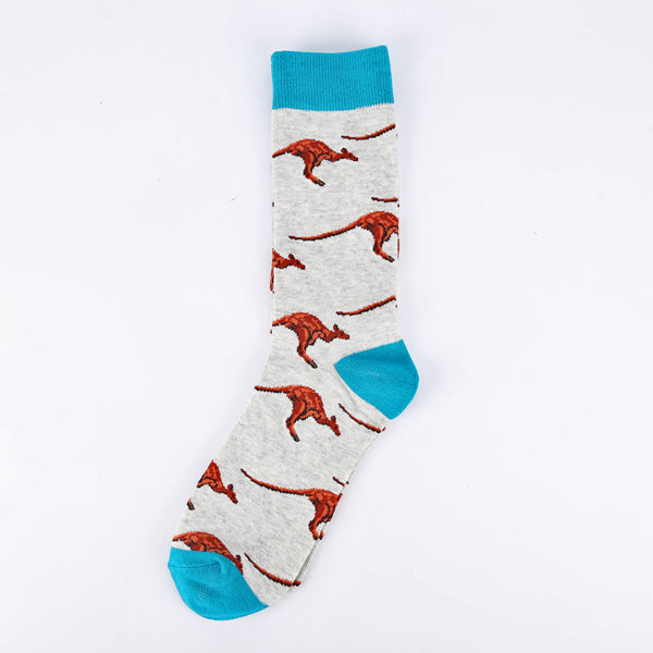 Blue White Kangaroo Socks
