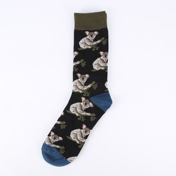 Brown Black Koala Socks