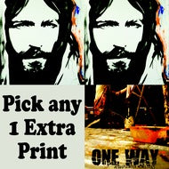 (2) Christ Eyes 8x10 prints + Any 8x10 print + DVD