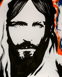 "Christ Eyes 30"" x 36"" Hand Painted Original Artwork"
