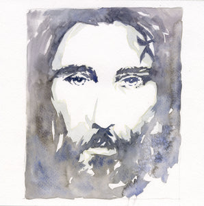 Face of Love Watercolor giclee print