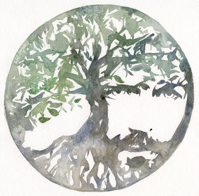 Tree of Life Watercolor giclee print