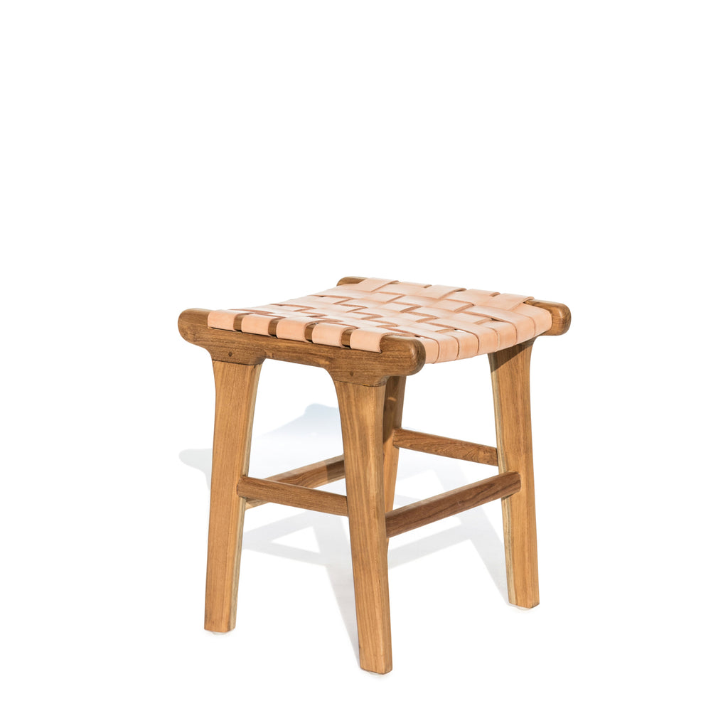 leather stool #1 in natural