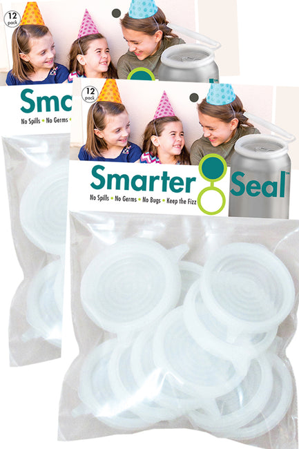 Smarter-Seal Soda/Beverage Can Lids | 24-Pack, Clear