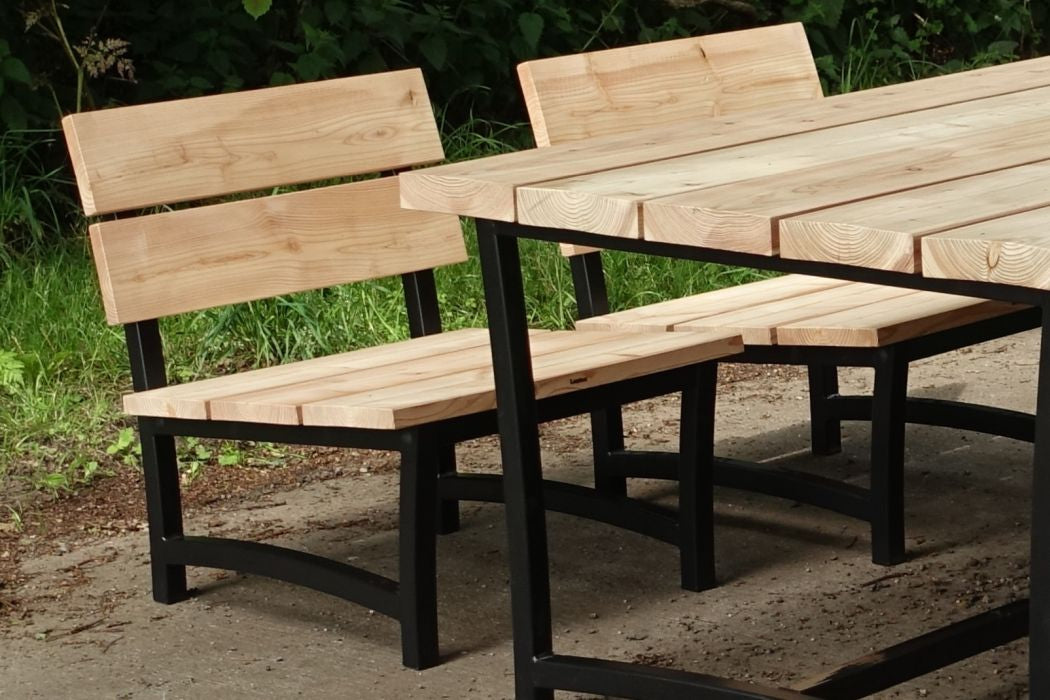 Low-dining stoel Douglas hout Acero