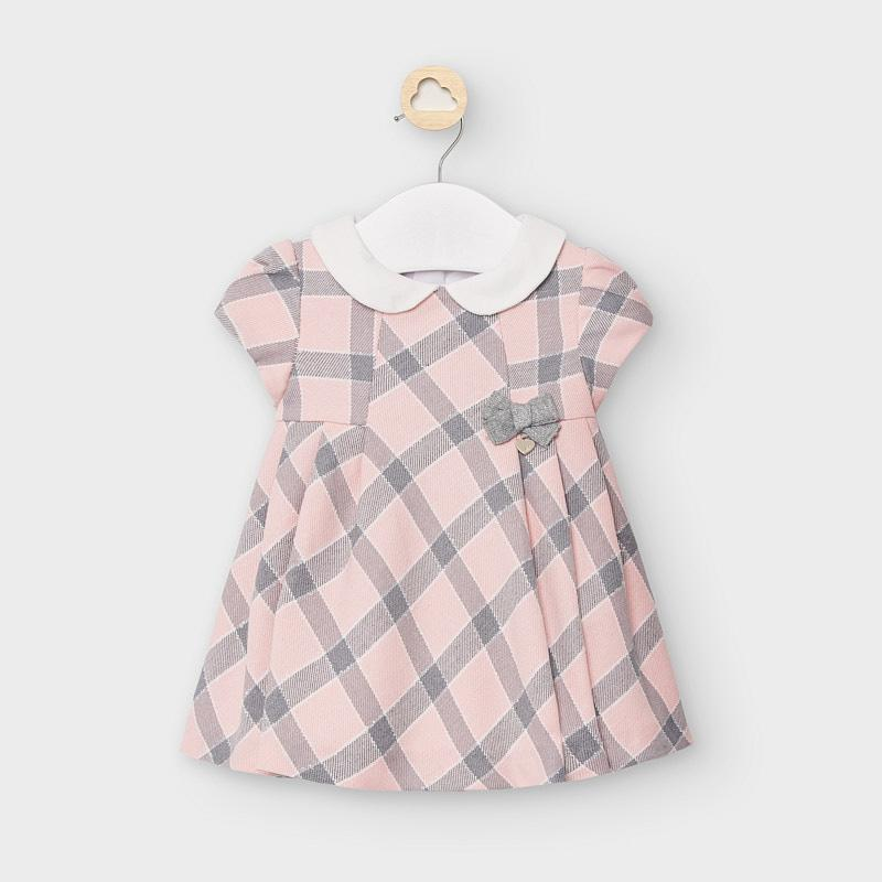 Mayoral Plaid dress with collar newborn girl