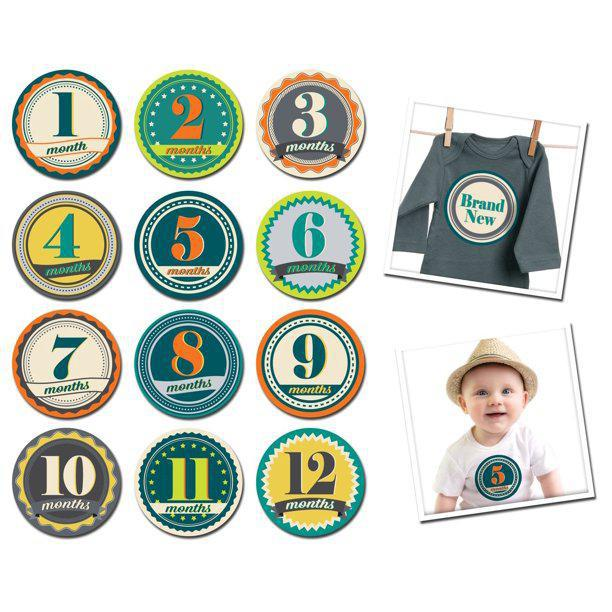 Sticky Bellies Monthly Baby Month Stickers - Luna Baby Modern Store