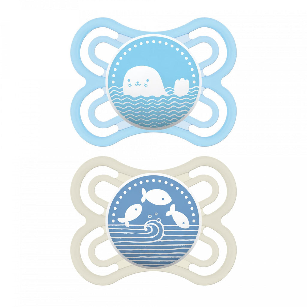 MAM Perfect Pacifier, 0-6 Months, Double Packs - Luna Baby Modern Store