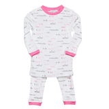 Noomie Pajama 2 Pieces Moon & Back Pink