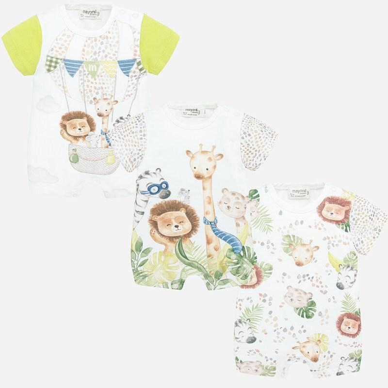 Mayoral Set Of 3 Short Onesies - Luna Baby Modern Store