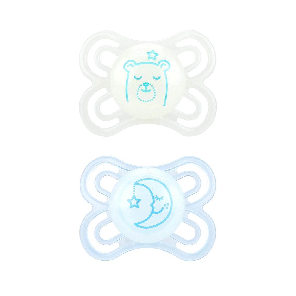 MAM Perfect Night Pacifier, 0-6 Months, 2-pack - Luna Baby Modern Store