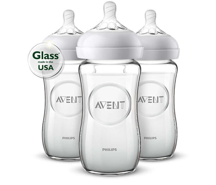 Natural glass baby bottle SCF703/37 - Luna Baby Modern Store