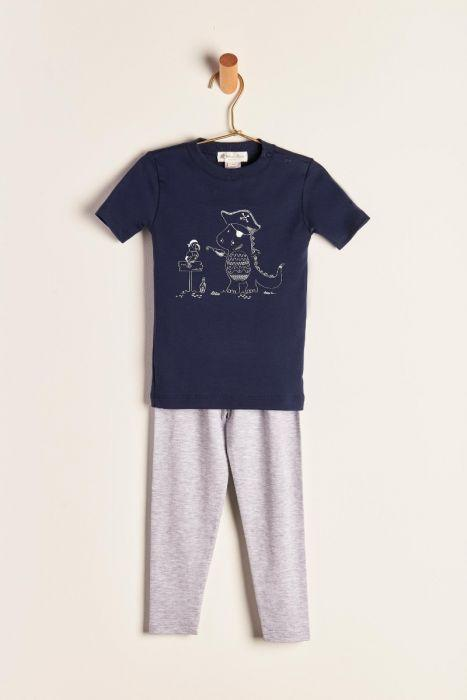 Babycottons Dino's Art Boy Combined Pajama Set