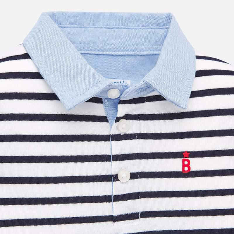 Mayoral Stripes S/s Polo - Luna Baby Modern Store